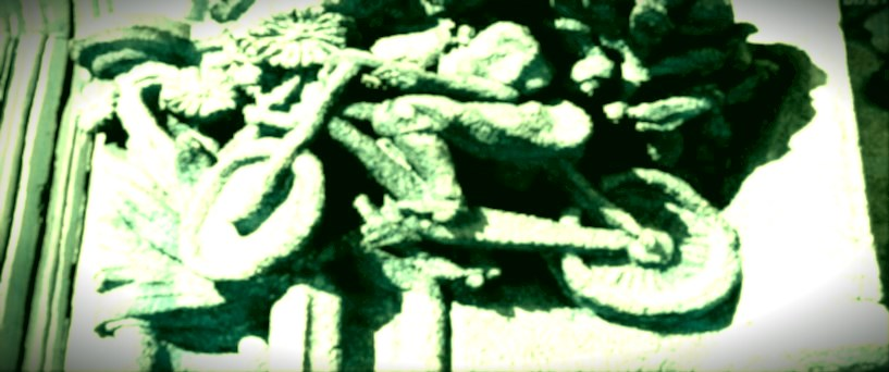 La fameuse roue de bicyclette ready made de Duchamp